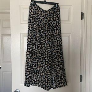 Free People Flower Pattern Maxi Skirt - Size Large